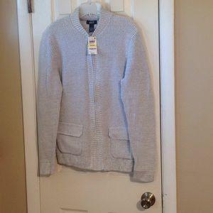 Alfani men's gray zip up sweater Sz:M